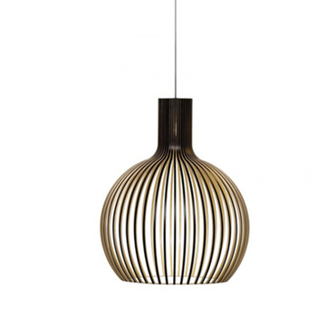 Birdcage Lamp Black Wood Pendant Lights E27 Restaurant Decoration Wood Hanging Lamp for Living Room Bedroom Light Fixtures modern black wood birdcage e27 bulb pendant light norbic home deco bamboo weaving wooden pendant lamp
