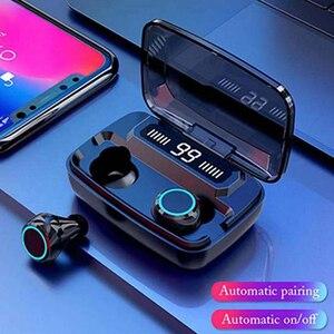 Image 2 - M11 TWS Auricolare Bluetooth V5.0 Touch Control Sport Cuffie Senza Fili Auricolare con Microfono 3300mAh Accumulatori E Caricabatterie Di Riserva Per Il telefono