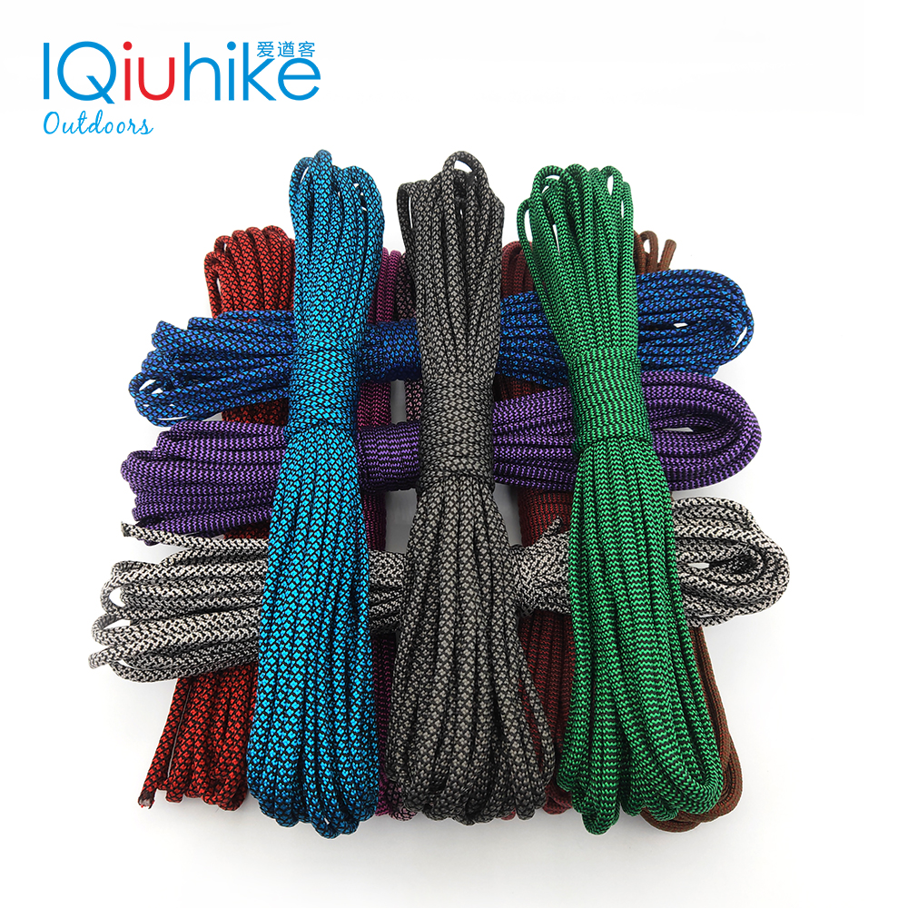 IQiuhike 208 Colors Paracord 550 Rope Type III 7 Stand 100FT 50FT Paracord Cord Rope Survival Kit Wholesale
