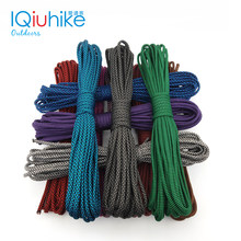Iqiuhike 208 cores paracord 550, corda tipo iii, 7 fios, 100 pés ou 50 pés, kit de sobrevivência, no atacado