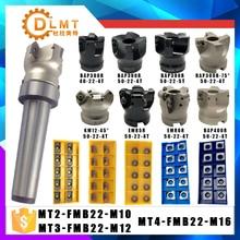 MT2 FMB22 M10 MT3 FMB22 M12 MT4 FMB22 M16 Şaft BAP400R 300R 50 Yüz Freze CNC Kesici + 10 adet APMT1604 Ekler Için Güç Aracı