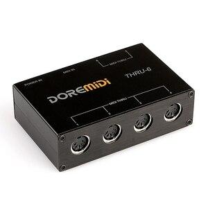 DOREMiDi миди через 6 через коробку пульт MIDI контроллер кабель со штыревыми соединителями на обоих концах для подключения 5 контактный разъем|Сценическое оборудование|   | АлиЭкспресс