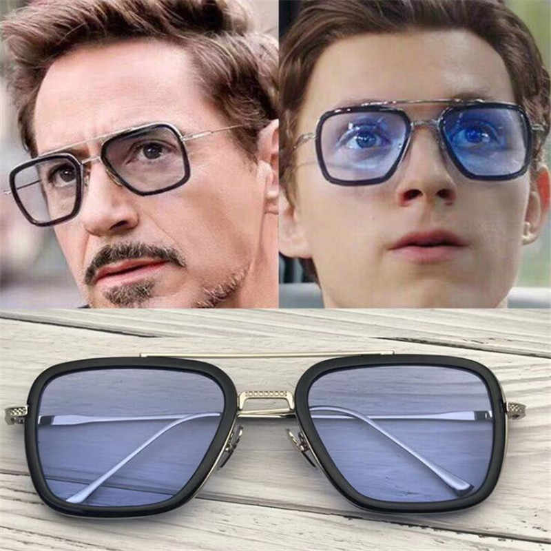 Hot New Marvel The Avengers Spider Man Homem De Ferro Óculos Trajes Cosplay Acc Downey Mesmo Estilo Óculos de Sol Da Moda Dom