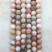 цены Natural 6 8 10mm Stone Beads Pink Fashion High Quality Figure Opal Loose Round Quartz Beads Gem DIY For Jewelry Making Bracelet