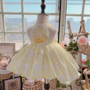 Новинка 2020new, платье принцессы на заказ в испанском стиле, светильник, желтое платье-пачка, вечернее платье для девочек на день рождения, рож...