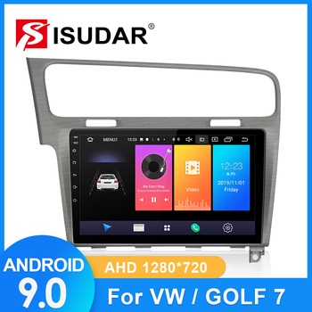 ISUDAR автомобильное радио для VW/Volkswagen/Golf 7 2 din Android 9 Авторадио Мультимедиа GPS DVR камера RAM 2 Гб ROM 32 ГБ USB радио IPS FM