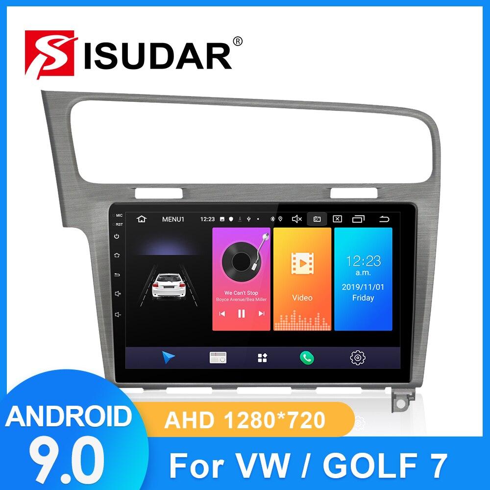 Rádio do carro de isudar para vw/volkswagen/golf 7 2 din android 9 autoradio multimídia gps dvr câmera ram 2gb rom 32gb usb rádio ips fm