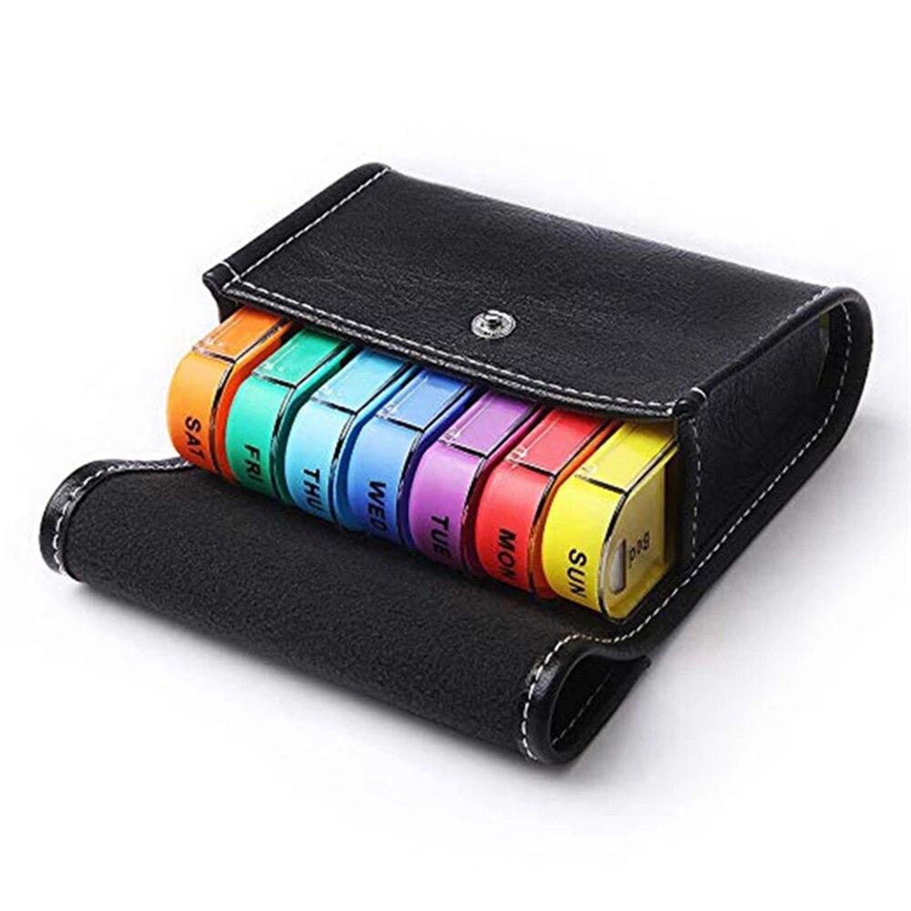 1pc 28 quadrados semanais 7 dias tablet pílula caixa colorido titular medicina armazenamento organizador recipiente conveniente caso com saco