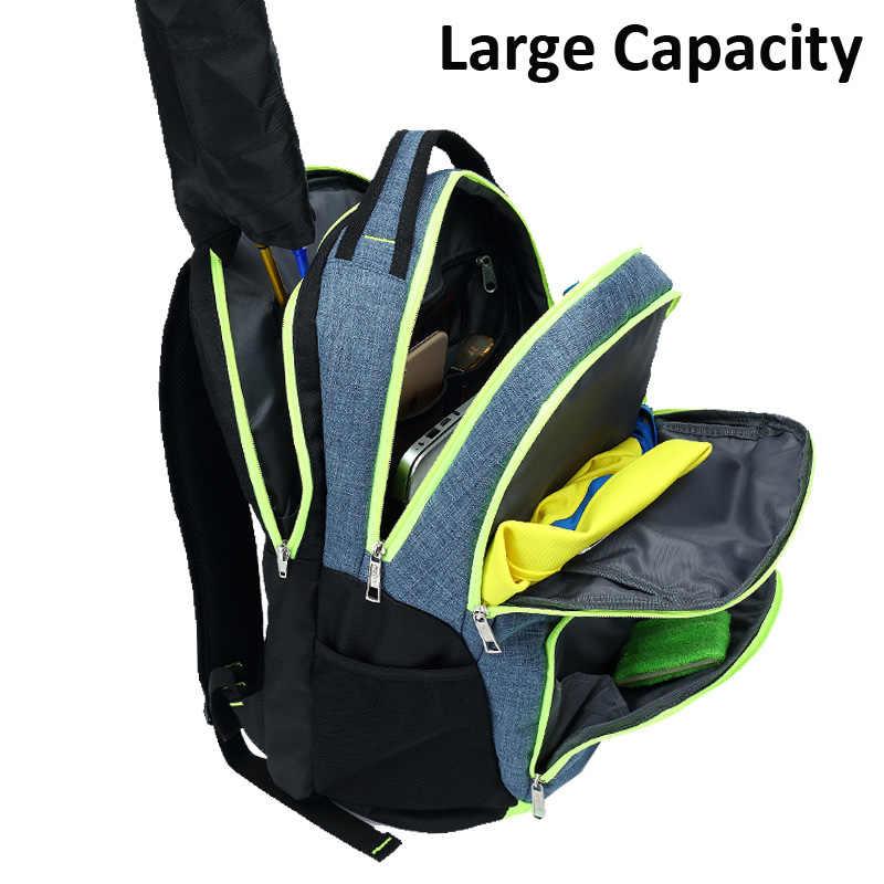 Tragen-beständig Oxford Stoff Badminton Tennis Schläger Rucksack Atmungs Lagerung Squash Tasche Tenis Schläger Touring Rucksack Taschen