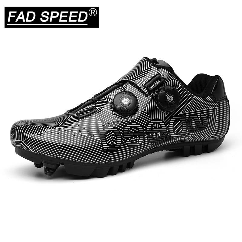 FAD SPEED New Cycling Shoes Mountain Bike Shoes MTB Road Cycling Breathable&Waterproof Self-Locking Shoes Athletic Bicycle Shoes(China)