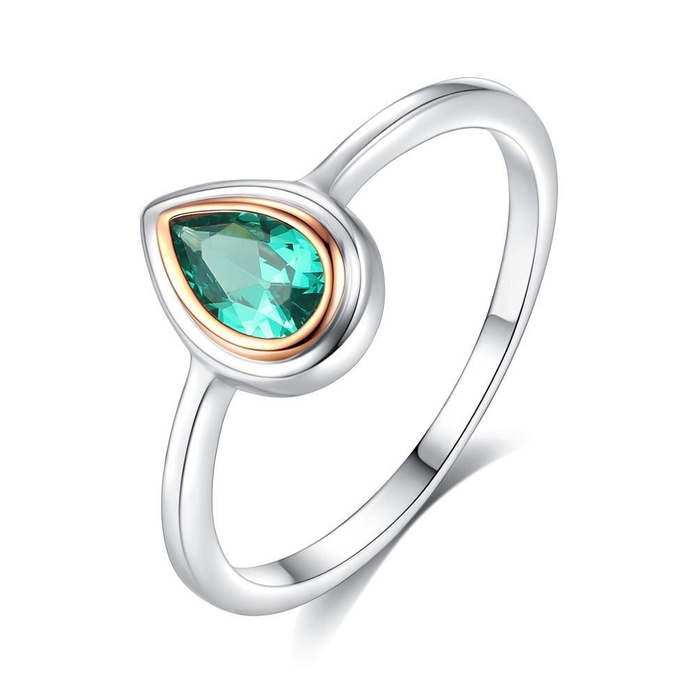 0.01cttw Rhodium Aqua and Diamond Ring Mia Diamonds 925 Sterling Silver Solid
