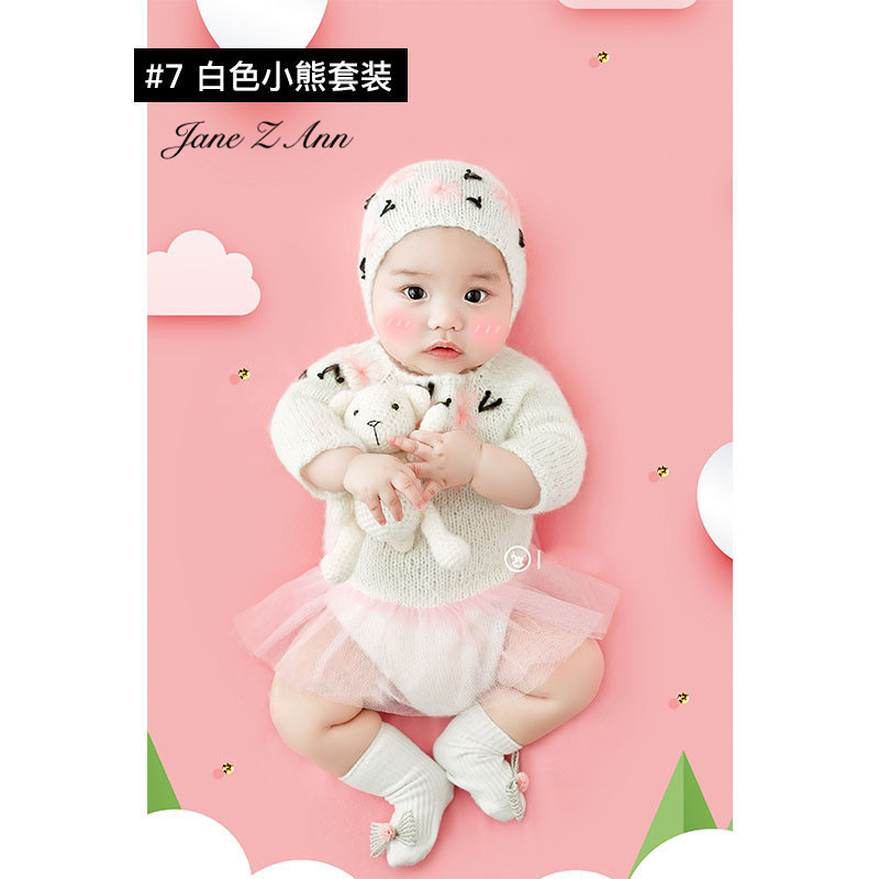 Jane Z Ann Baptism Clothes for Babies  Baby Photo Shoot Clothing Filming Props  Children 100 days/3-4 month  Theme costume 6