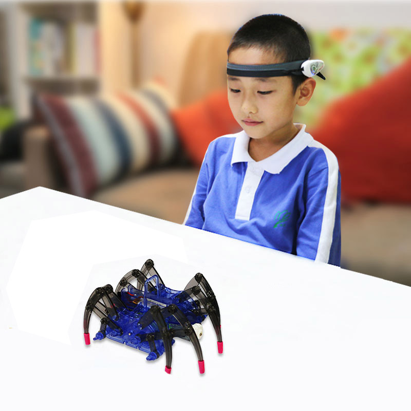 Mindlink RC Spider Robot Headband Kit Brainlink Toys EEG Training Novelty High Tech Toys Focus App Game Gift For Children Adults