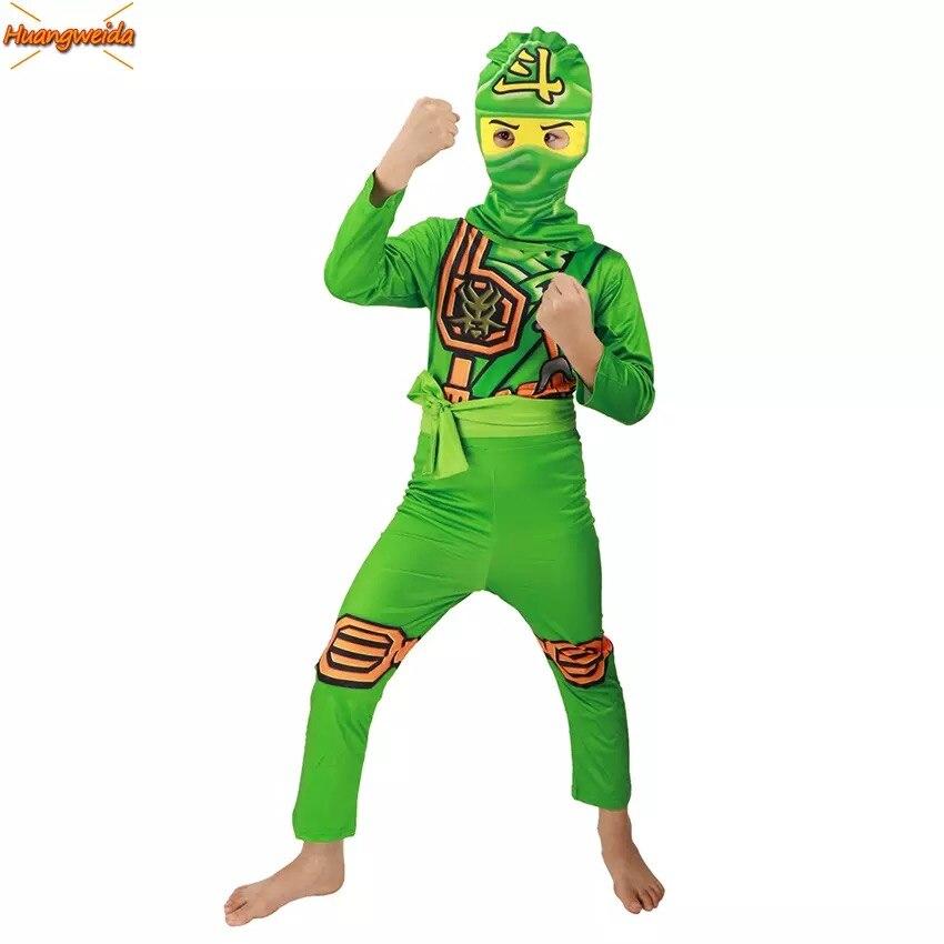 Ninjago Costume Boys Costumes Children Fancy Party Dress Up Carnival Halloween Costume for Kids Ninja Cosplay Superhero Jumpsuit 5