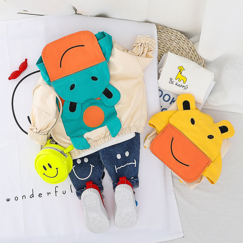 HYLKIDHUOSE 2020 Spring Baby Girls Boys Clothing Sets Toddler Infant Clothes Cartoon Hooded Coats T Shirt Jeans Children Clothes