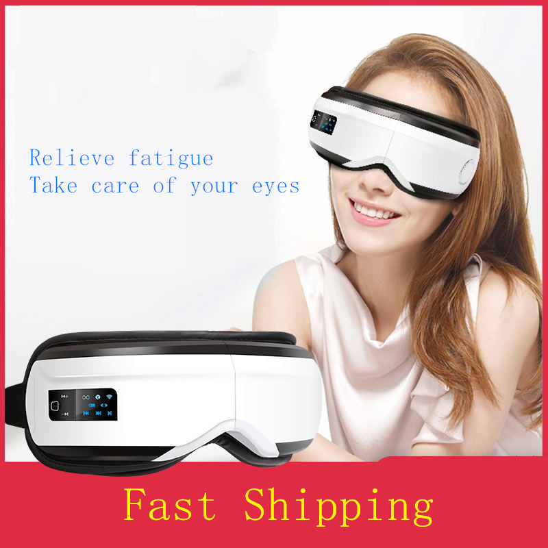 Dropshipping Vibration Eye Massager Wrinkle Fatigue Relieve Hot Compressing Air Pressure Therapy Massage Eye Care Device