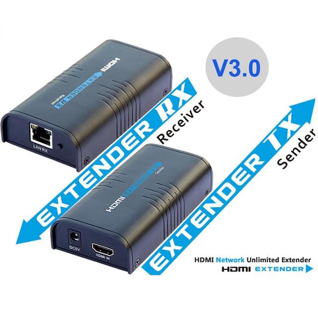 V 3.0 LKV373A HDMI extender ספליטר מעל cat5e/6 כבל עד 120M TCP/IP 3D & 1080P
