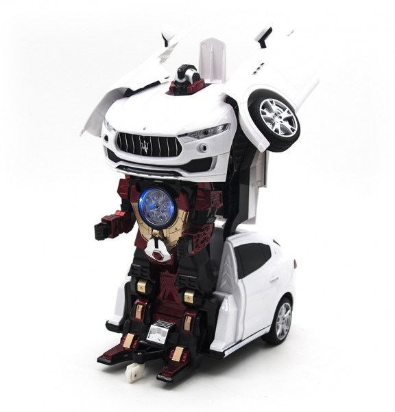RC Transformer Maserati Levante White MZ-2392PF-W Robot