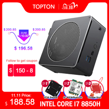 8th Gen Intel Mini PC Máy Tính Core I7 8850H 8750H 6 Core 12 Luồng 32GB DDR4 2 * M.2 SSD I5 8300H UHD Graphics 630 Mini DP WiFi
