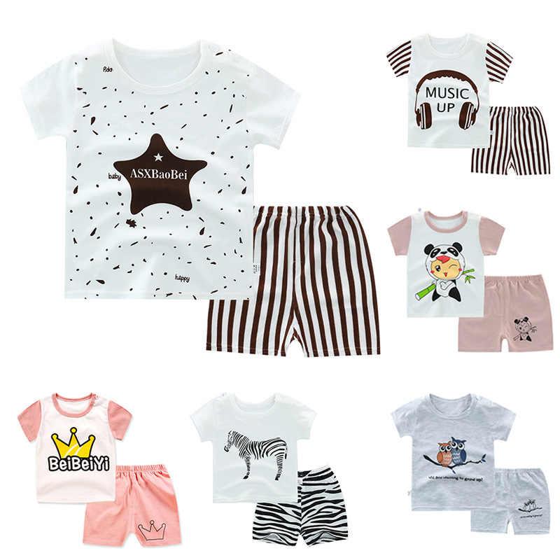 Disney Summer Baby Boy Clothes Mickey Baby Girl Clothes Infant Newborn Boy Girl Clothing Set Sports Tshirt+ Shorts Suits