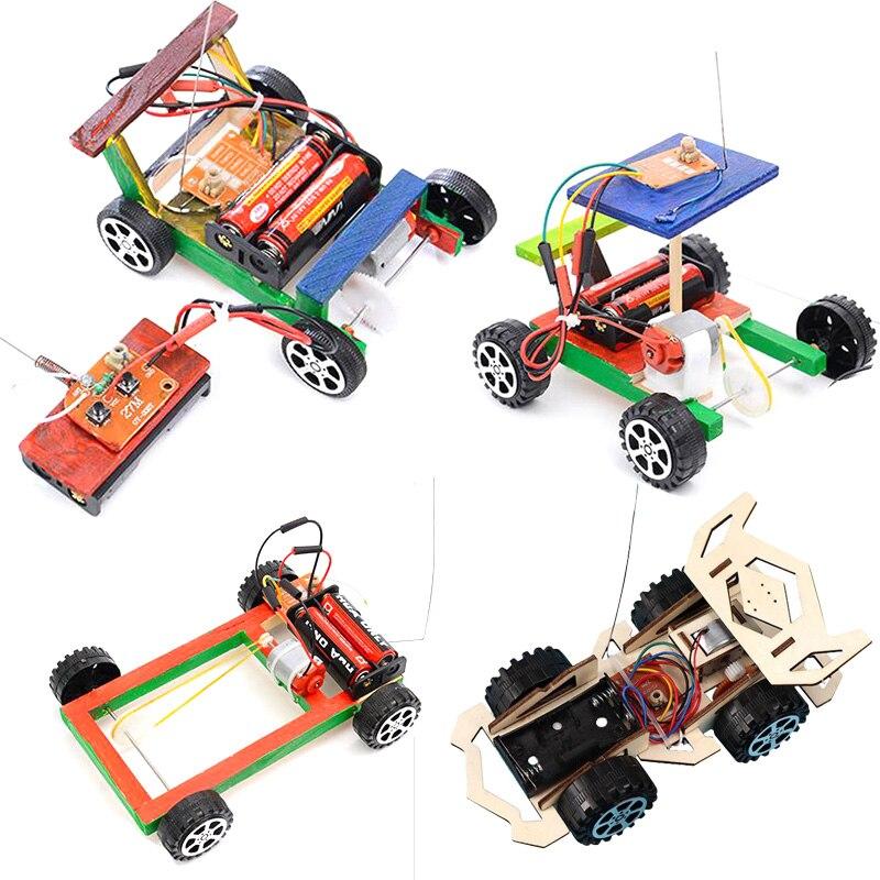 Набор «сделай сам», гоночный автомобиль с дистанционным управлением, научный эксперимент, Обучающие игрушки STEM, технология, электронное строительство для детей