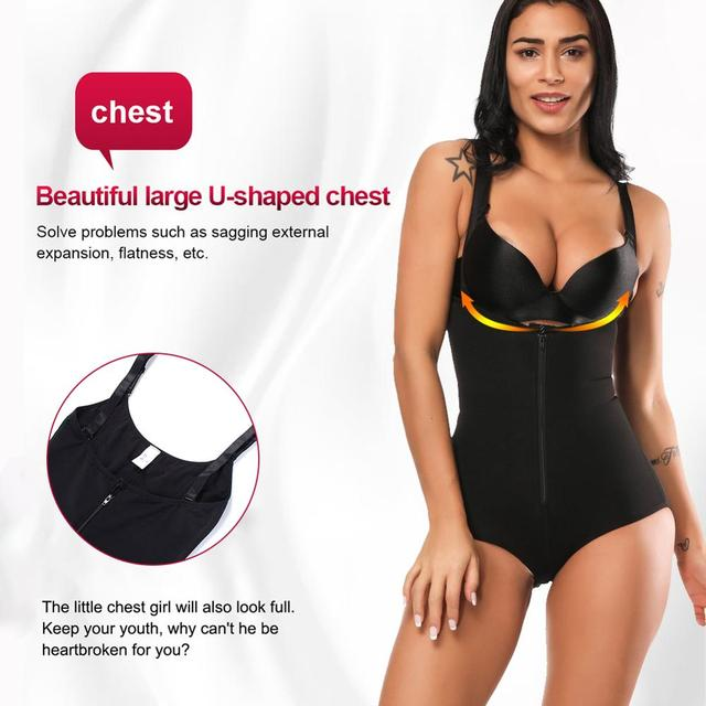 2020 New Arrival Bodysuits Sexy Shapewear Waist Trainer Butt Lifter Slim Shaper Invisible Bodysuit with Straps Firm Control Body 3