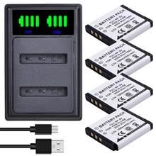 Batmax 1500mah NP-50 np50 bateria + led carregador duplo com tipo c porta para fujifilm para pentax D-Li68 para kodak KLIC-7004 k7004
