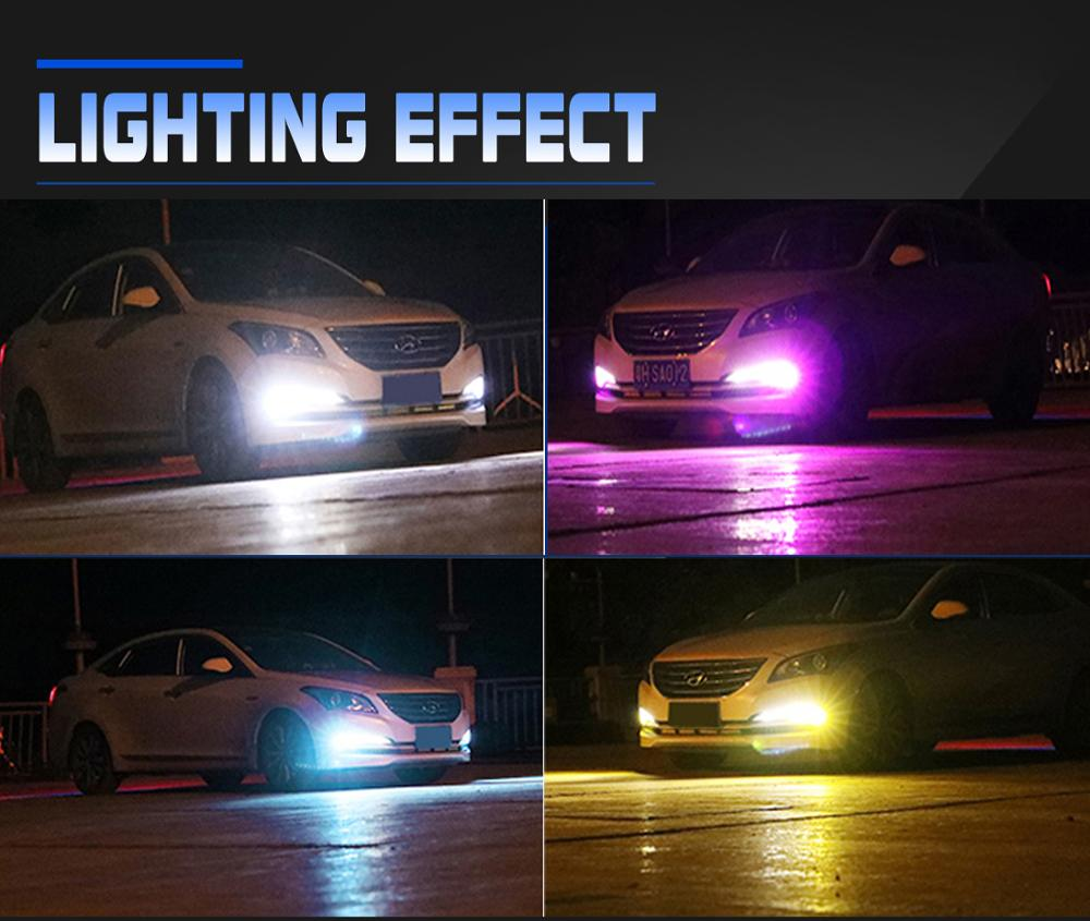 Universal LED DRL Super Bright Headlamp H1 Headlight Car Lamp Beam Bulbs