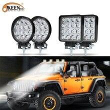 OKEEN 2pcs Car LED Light Bar 42W 48W LED Work Light High Power Spotlight For 4x4 Offroad ATV UTV Truck Tractor Motorcycle lights