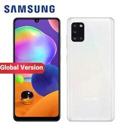 Мобильный телефон Samsung Galaxy A31, глобальная версия, 5000 мАч, 128 ГБ ОЗУ 6 Гб ПЗУ, A315G/DS, 6,4 дюйма, четыре камеры, 48 МП, две SIM-карты, Andrpid 10 смартфон