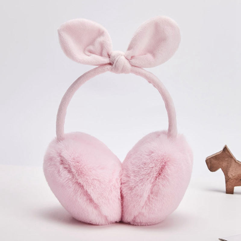 Ladies Winter Warm Cute Earmuffs Outdoor Earmuffs Bow Warm Earmuffs Plush Children Warm Earmuffs Winter Cold Student Earmuffs