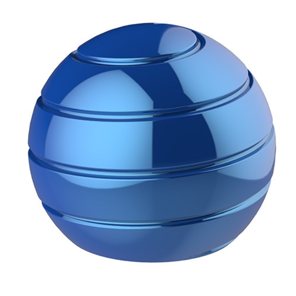 Spherical Adults Rotating Gyro Illusion Flowing Finger Gyroscope Optical Desk Ball Decompression Toy Spinning Tops Kinetic Kids