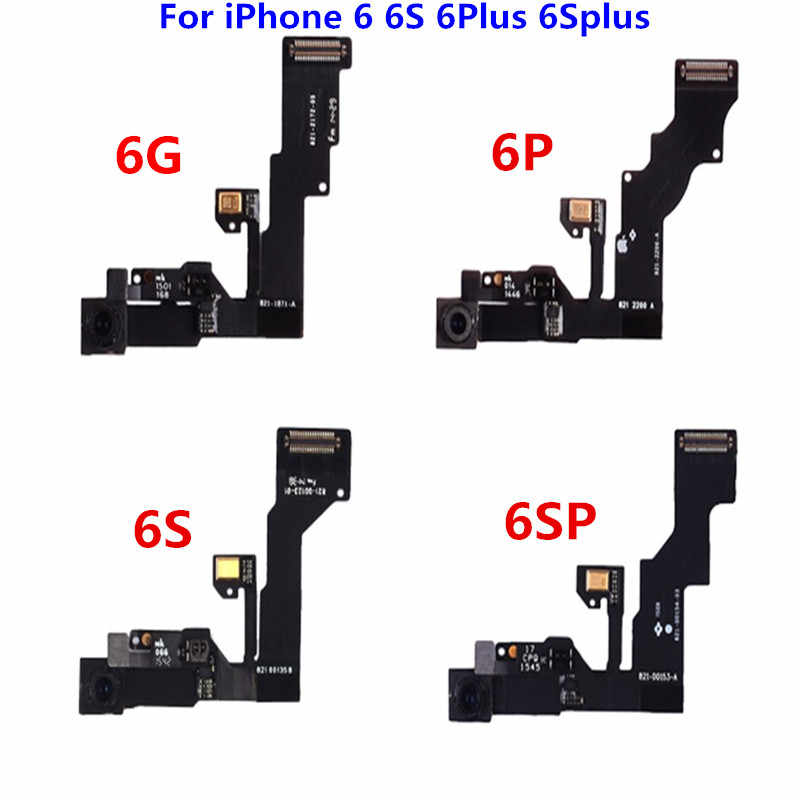 Original para iPhone 6 6S 6Plus 6Splus cámara frontal Sensor de proximidad Cable flexible para iPhone6 6P 6SP partes de reparación de cámara frontal