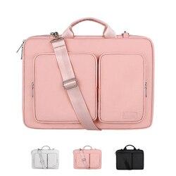 Saco do portátil à prova dwaterproof água 13.3 14 15.6 polegada notebook saco luva caso para macbook ar pro 13 15 capa de ombro bolsa maleta
