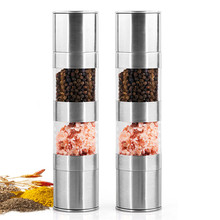 Pepper-Grinder Ceramic-Mill Kitchen-Tools-Accessories Cooking Stainless-Steel for 2-In-1