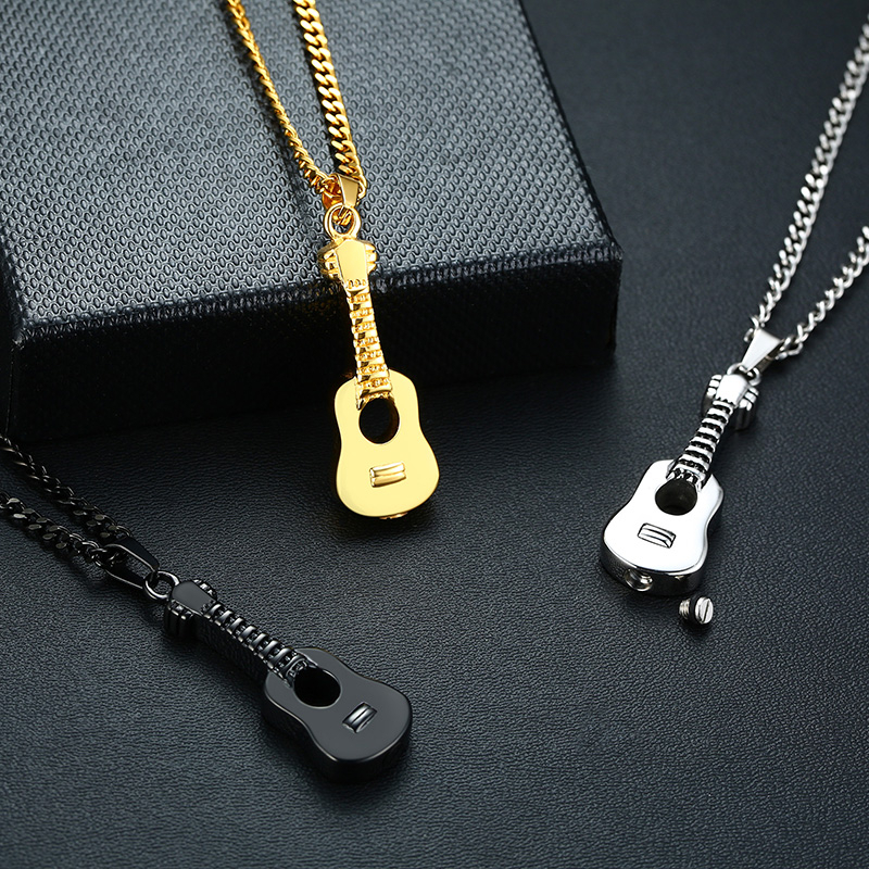 Necklace For Men Stainless Steel Cremation Jewelry Ash Urn Necklace Pendant For Men Hip Hop Male Gifts