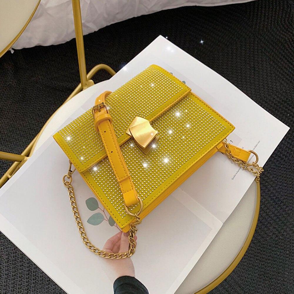 2020 mini handbags diamonds Crossbody Messenger Bag for women lady shoulder bags chain PU leather Handbags Bolsas Feminina