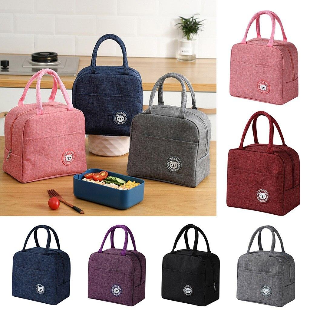 Сумки для хранения, сумка для ланча, изолированный мультяшный чехол для пикника, термопереносная сумка для холодного ланча, сумка для бенто,...