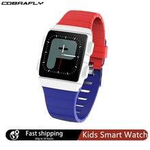 Cobrabie cr11 crianças smartwatch 1.3 polegada de fitness rastreador estudante moda jovem monitor à prova dwaterproof água esportes relógios para meninos meninas