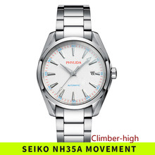 PHYLIDA 10bar Water Resistant Men Automatic Watch Stainless
