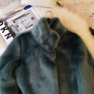 2020 New Style High-end Fashion Women Faux Fur Coat S10