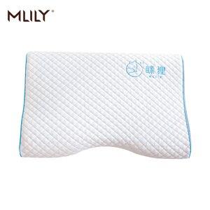 Image 3 - Mlily espuma de memória travesseiro gelo gel de refrigeração ortopédico pescoço cervical travesseiro aircell tecnologia manchester united