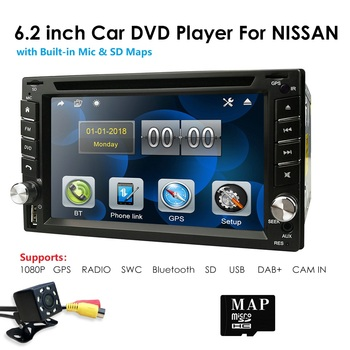 HD 6.2 2 Din Car Stereo Radio DVD Player For Universal Car Bluetooth In Dash GPS Map Card BT FM USB CN/AU/US/EU/PL stock image