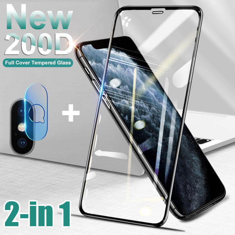 200D Curved Tempered Glass On The For IPhone 6 6s 7 8 Plus X XS Glass Screen Protector For Iphone 11 Pro Max XR Protective Film