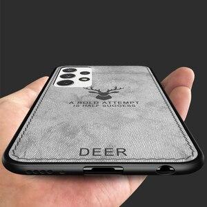 Image 3 - עור מרקם TPU PC Case עבור סמסונג גלקסי A52 A72 5G S21 הערה 20 במיוחד S20 בתוספת A32 A42 5G A12 A51 A71 דפוס חום בהיר כיסוי