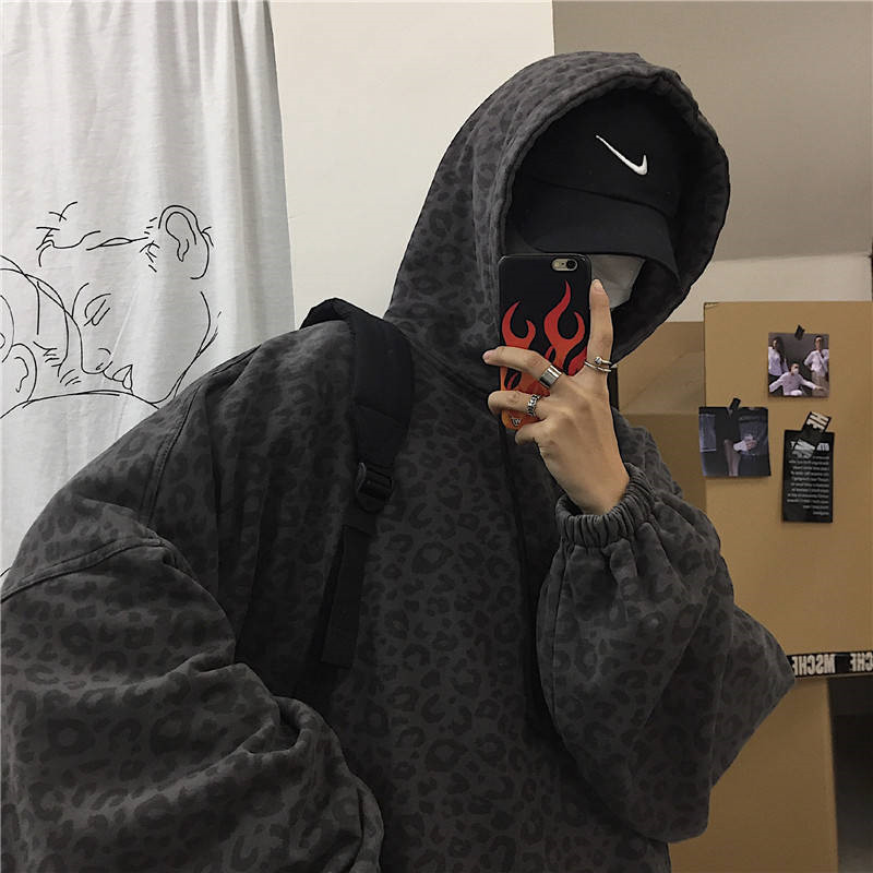 Japan Style Fashion Harajuku Style Long Sleeve Men Casual Tops Male Oversized High Street Hoodie Hip Pop Harajuku Cool Fashion