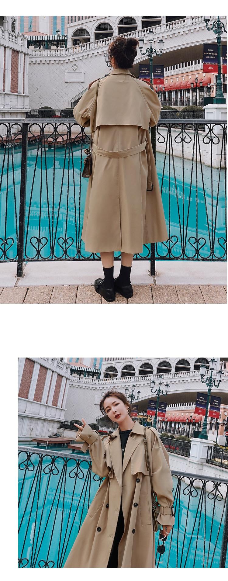 Hea87da54dafd4869beebf1c3644794dcX 2021 Autumn Women Trench Coat With Belt Women Clothes Blue Coat Casaco Feminino Harajuku Abrigo Mujer Long Trench Femme