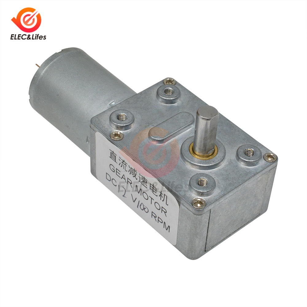 High Torque Turbine Worm Gear DC Geared Motor 4632-370 12V/100RPM Adjustable Speed Controller Reversible micro Motor