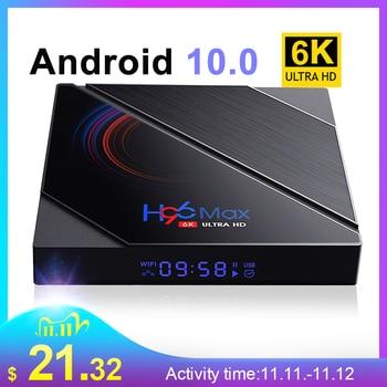 TV Box android 10 4G 64GB 6K Android TV Box 2020 H96 MAX H616 Smart TV Box LEMFO 2.4G 5.8G WIFI Google Voice Set Top Box H96max