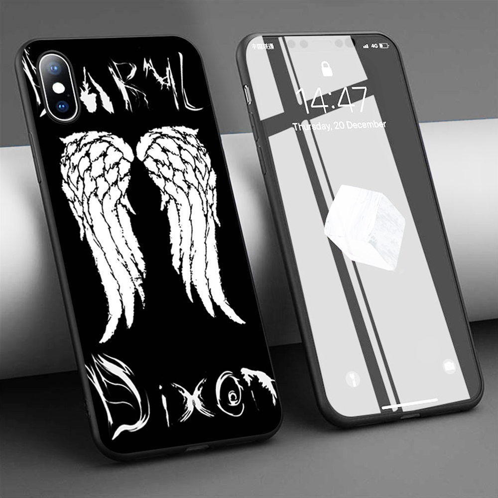 Coque Daryl Dixon Case Walking Dead Soft Silicone Phone Case for iPhone 11 Pro Max X 5S 6 6S XR XS Max 7 8 Plus Case Phone Cover